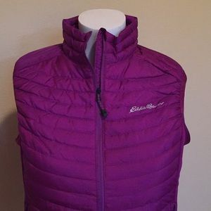 Eddie Bauer thin down vest in purple